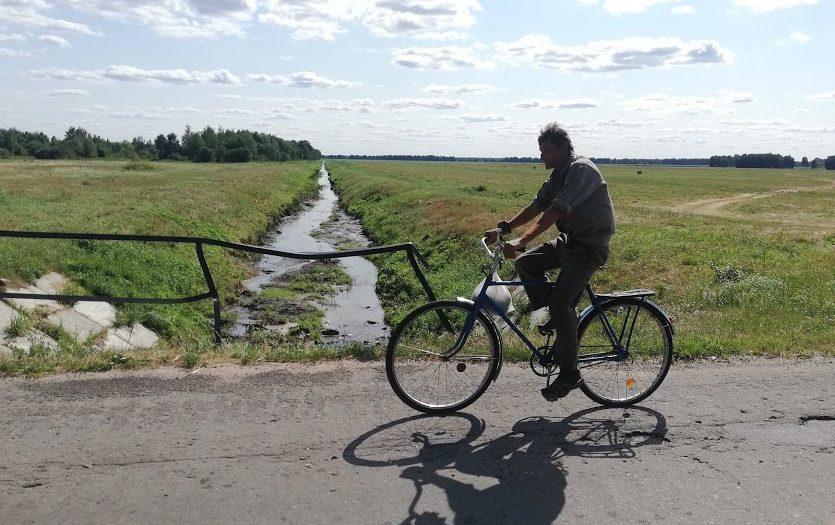 man at bike